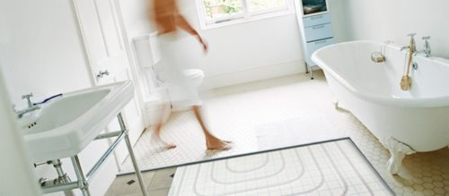 Bathroom electric underfloor heating systems