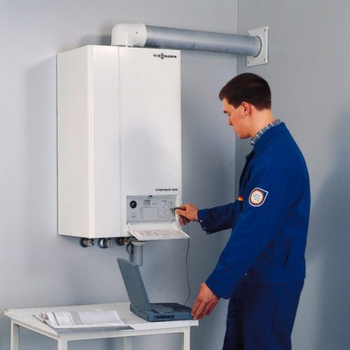 Electric boilers installation