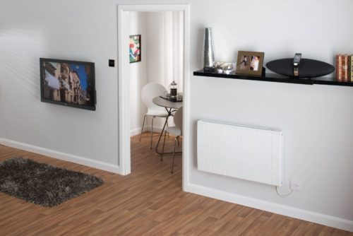 Electric radiator in hallway