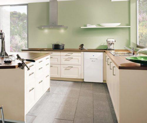 Oil central heating; oil combi boiler in kitchen