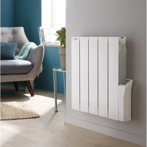 Electric radiators in a living room