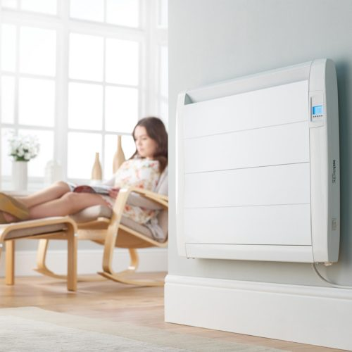 Slim electric radiator