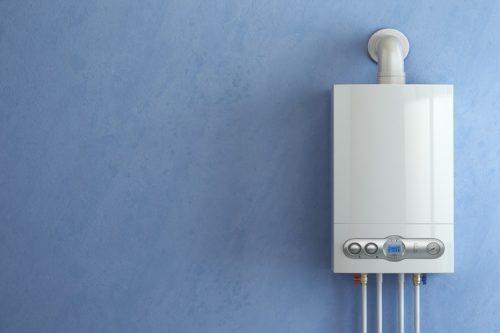 Modern boiler; boiler installation