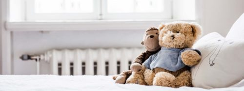 Stuffed toys near a radiator - find the right price by looking at central heating quotes