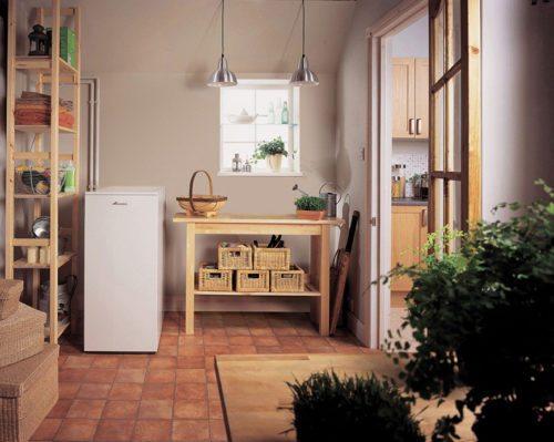System boiler in utility room